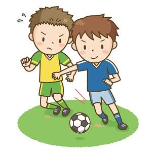 サッカー部の中学生の男の子たち